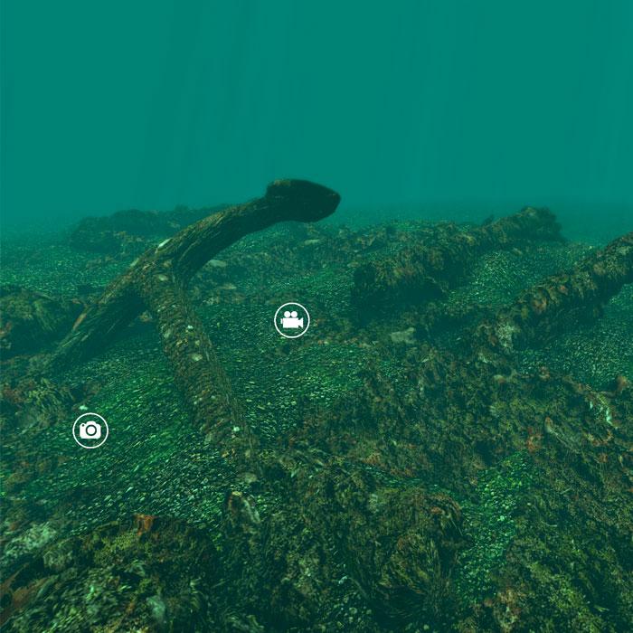 360 underwater 3D tour