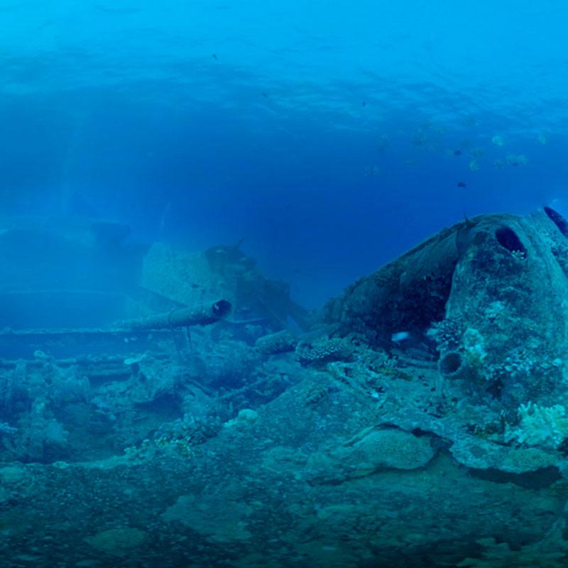 360 VR tour shipwreck