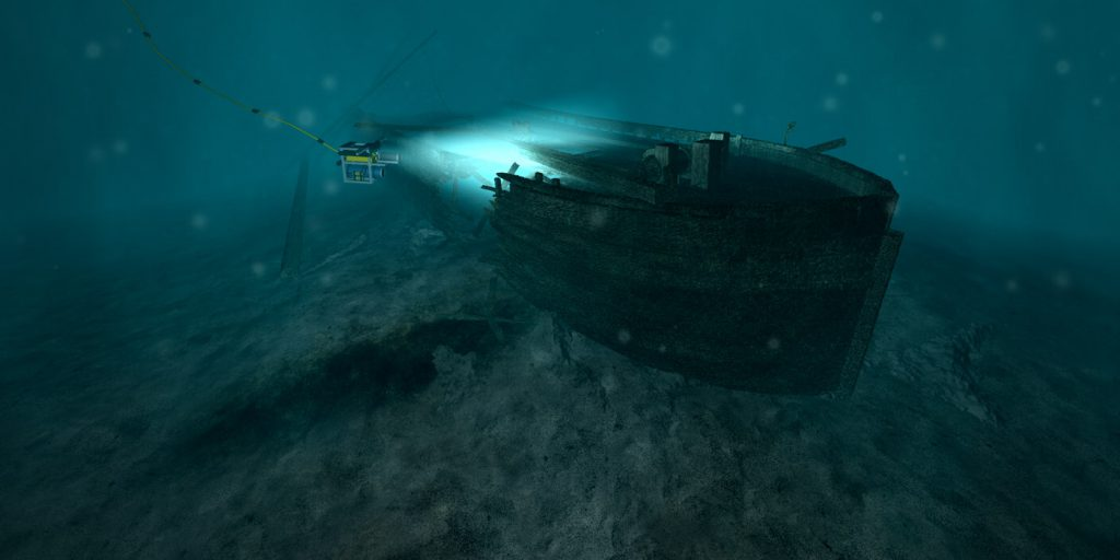 3D underwater shipwreck visual effects
